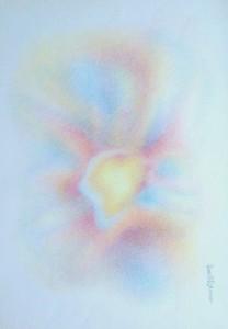 Arte psichica, pastelli su carta cm.50 x  35