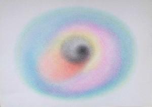 Arte psichica, pastelli su carta cm.50 x  35 2