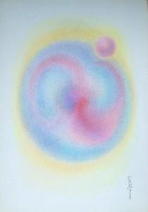 Arte psichica,pastelli su carta cm 50  x  35