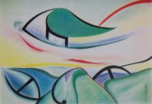 Arte psichica- asma, 1977-pastelli su carta cm. 35x50