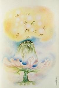 Arte psichica-crescita nella gioia-pastelli su carta cm.50x35