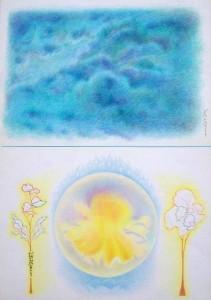 Confusione mentale-diagnosi e terapia,1983-pastelli su carta cm.70x50