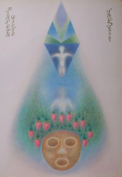 Giove(prosperità, abbondanza, benessere)-pastelli su carta cm.50x35