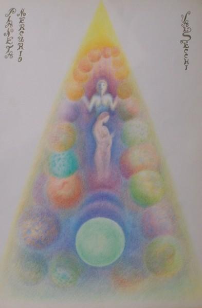 Mercurio(evoluzione)-pastelli su carta cm.50x35