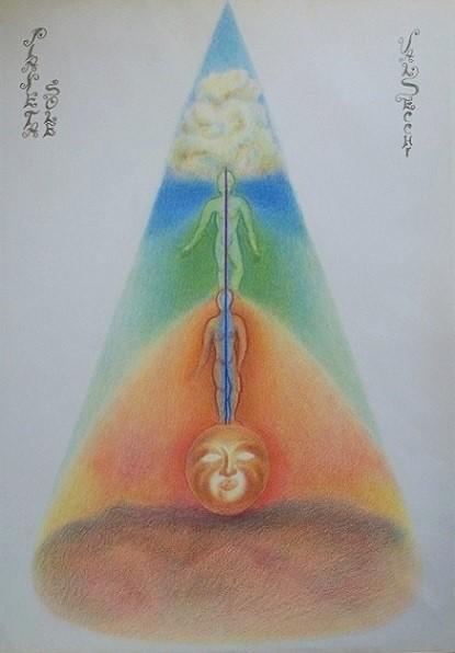 Sole (creatività e forza vitale) pastelli su carta cm.50x35