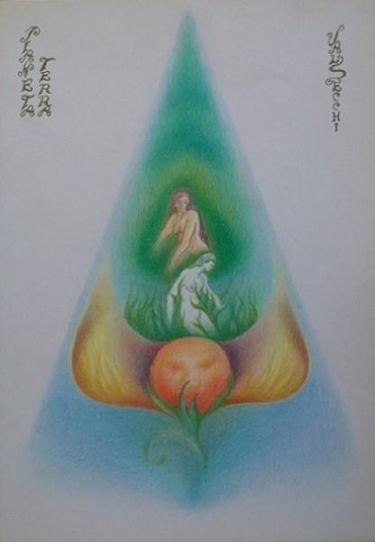 Terra (dinamica della comprensione)-pastelli su carta cm.50x35
