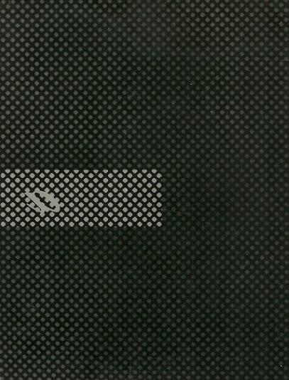 Mutazione scrittura,1979 - elaborazione meccanica lettera a -collage poliestere cm. 30x24