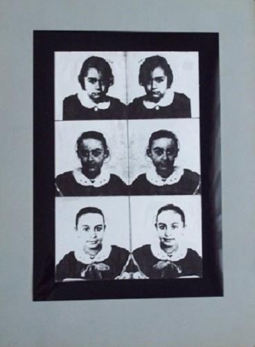 Mutazione scrittura, 1990 -collage poliestere e carta cm. 50x35