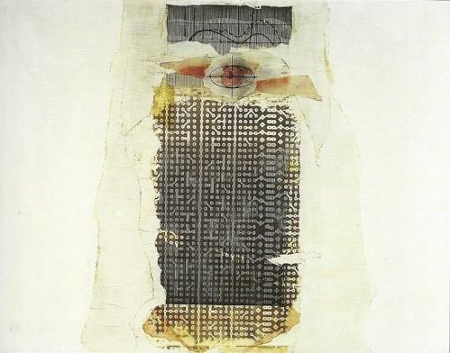 Situazioni,1973-collage su tela cm. 70x90