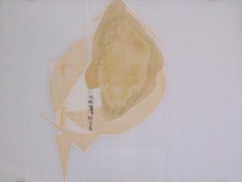 Situazioni, 1971-collage su vetro cm. 46x 62