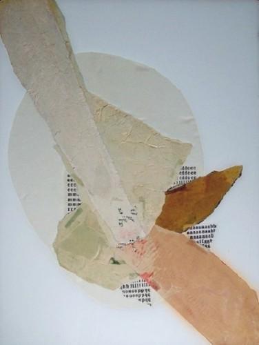 Situiazioni, 1972-collage su vetro cm. 51x61