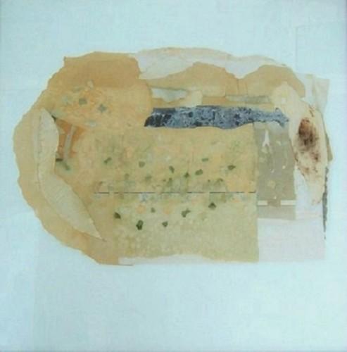 Siuazioni, 1973-collage su vetro cm.70x70