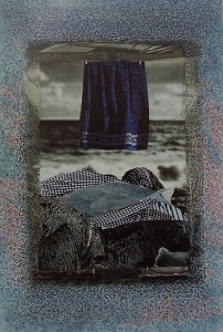 Arte psichica ,2005-collage su carta cm. 50x35