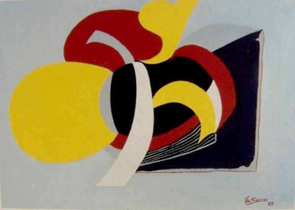 Composizione strutturale, 1969-tempera su carta cm.40x50