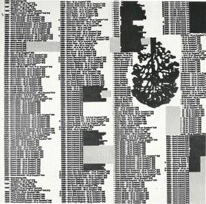 Genesi, 1975-collage su tela cm. 80x80
