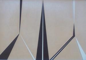 Io entità, 1970-collage su specchio cm. 24x34