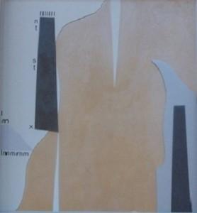 Io entità 1970-collage su specchio,cm. 25x22