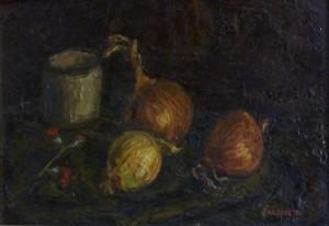 Natura morta, 1943-olio su tavola cm. 24x36