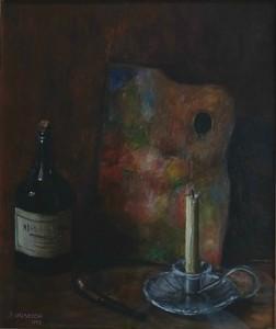 Natura morta, 1950-olio su legno cm. 33x28