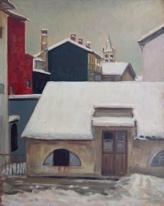 Paesaggio, 1942-olio su tavola cm. 50x 40
