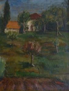 Paesaggio, 1943-olio su tavola cm. 50x40