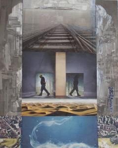 Rapporti psicosociali, 2011-collage su carta cm.50x35